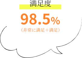 満足度98.5%